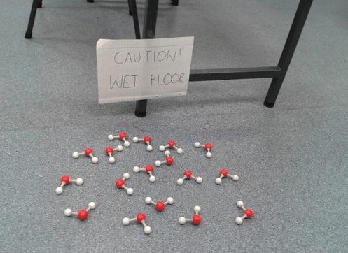 caution wet floor molecules - 7683713280