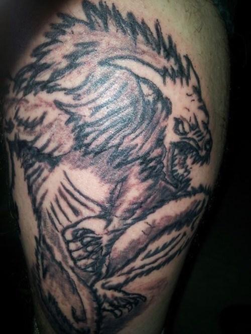 werewolves tattoos funny - 7683716608