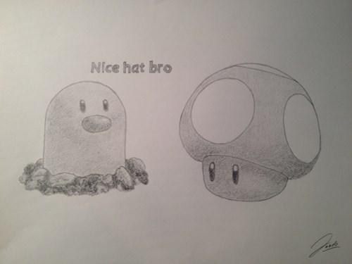 Pokémon,diglett wednesday,diglett,mario,Mushrooms