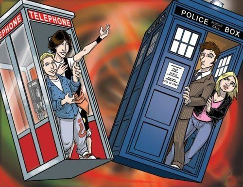 crossover Fan Art doctor who bill and ted - 7683815424