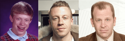 the office bad luck brian Macklemore totally looks like funny
