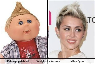 Cabbage Patch Kids,totally looks like,funny,miley cyrusm