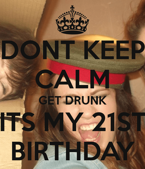 poster birthday funny keep calm - 7684042496