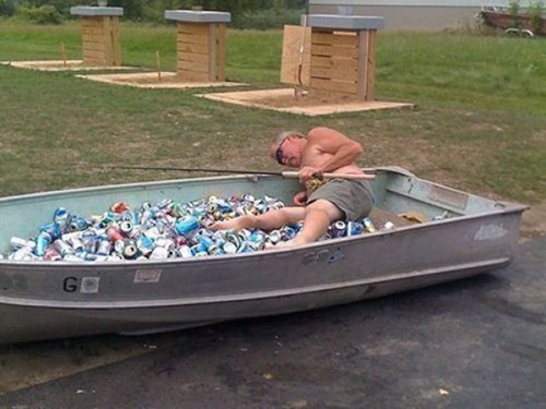 beer passed out drunks boat funny - 7684119552