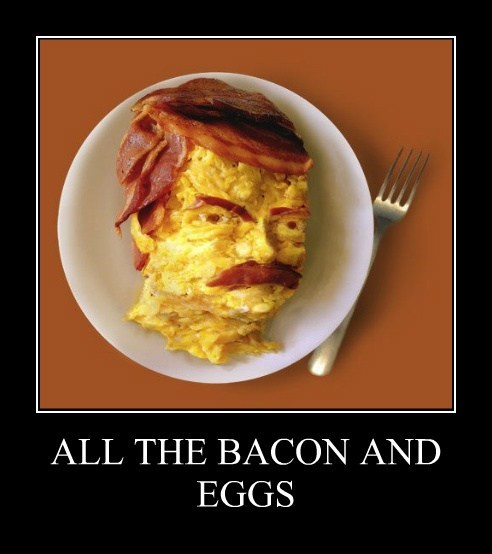 breakfast eggs funny bacon - 7684303872