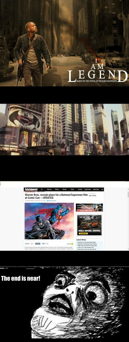 i am legend wtf prophecy batman funny superman - 7684372736