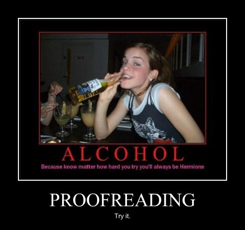 booze proofreading drunks funny