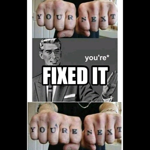 tattoos misspelling knuckles funny - 7684751104