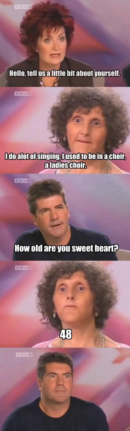 simon cowell,singing,shannon osborne,funny