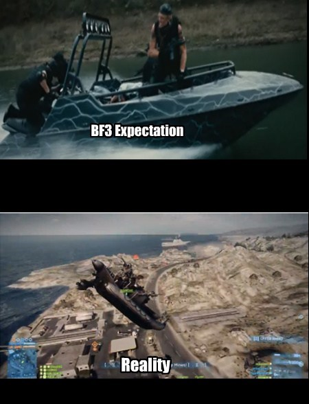 wtf,expectations vs reality,Videogames,Battlefield 3,funny