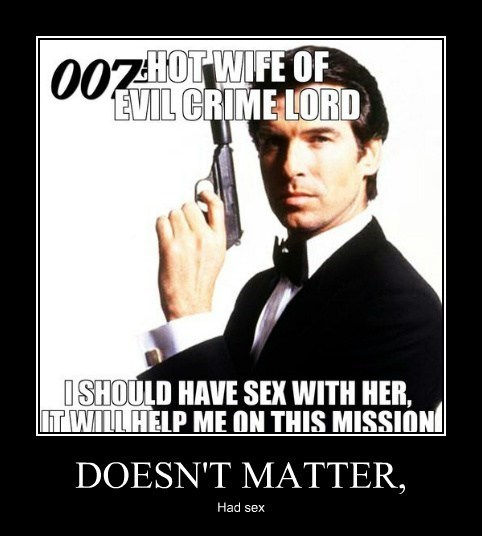 crime lord,james bond,sexy times