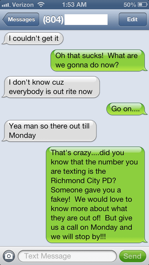 police department,richmond police,texting pranks,texting