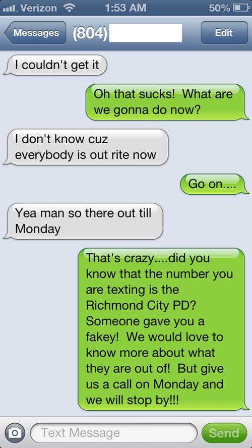 police department richmond police texting pranks texting - 7685325056