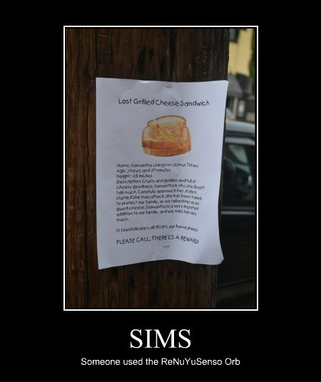 cheese Sims sandwiches video games funny - 7685333248