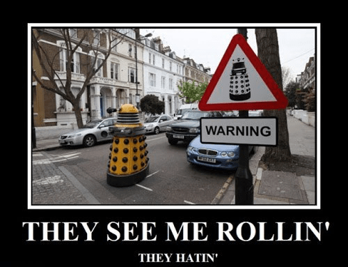 daleks riding dirty doctor who - 7685537024
