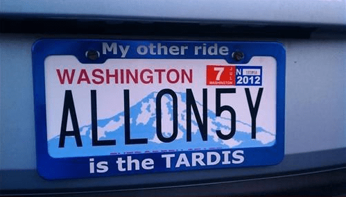 license plates tardis cars doctor who - 7685542144