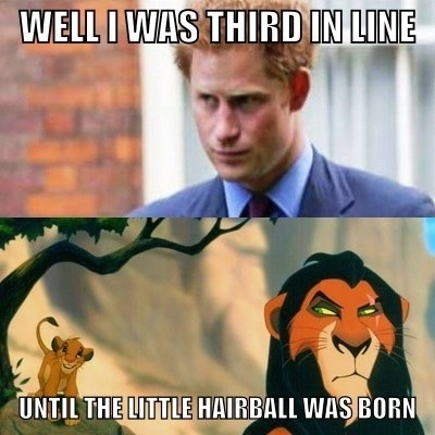 royal baby Prince Harry scar lion king - 7685563648