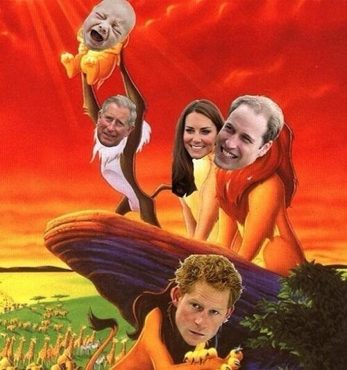 royal baby Prince Harry kate middleton prince william lion king funny - 7685742592