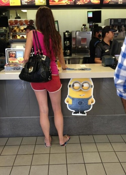 despicable me,minion,dave,fast food