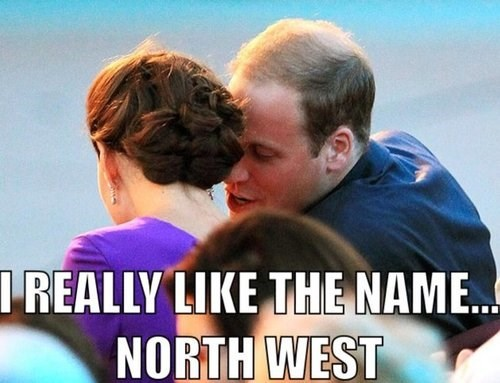 royal baby kate middleton kanye west north west - 7685777920