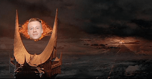 mordor Lord of the Rings puns Macklemore funny Eye of Sauron - 7685884928