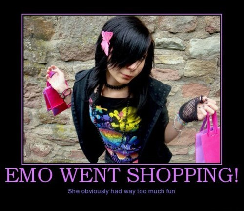 Sad,shopping,emo,happy,funny