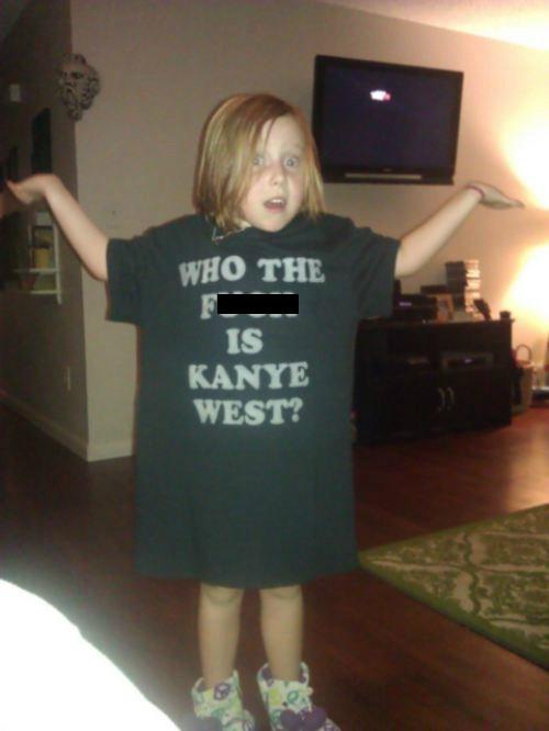kids tshirts kanye funny parenting - 7685949440