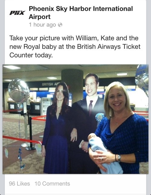 NSA royal baby prism kate middleton phoenix airport