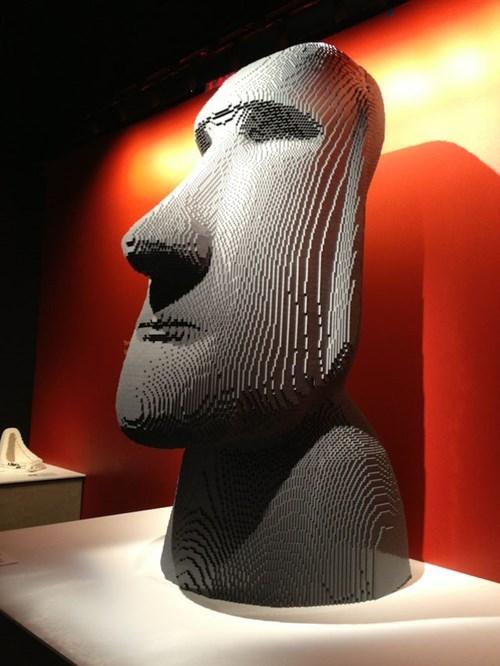 easter island lego nerdgasm moai funny - 7686400512