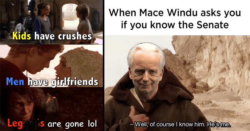 Funny star wars memes, dank memes, star wars shitposting, prequel memes, anakin skywalker