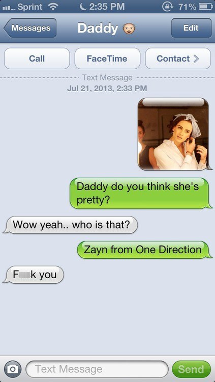 one direction zayn malik texting g rated AutocoWrecks - 7686451712