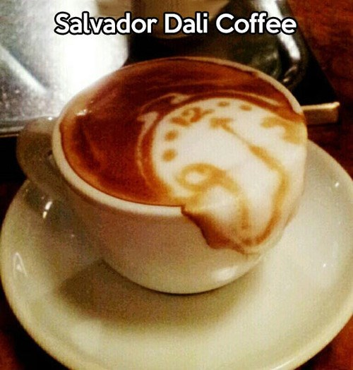 art,IRL,salvador Dali,coffee