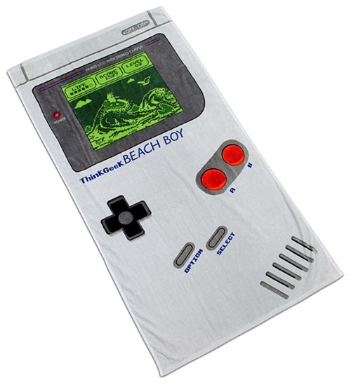 towel design beach nerdgasm gameboy funny - 7686487040