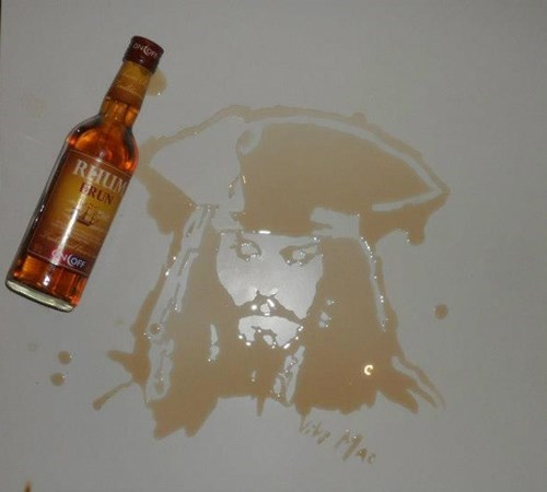 jack sparrow Pirates of the Caribbean Rum portrait funny - 7686492160