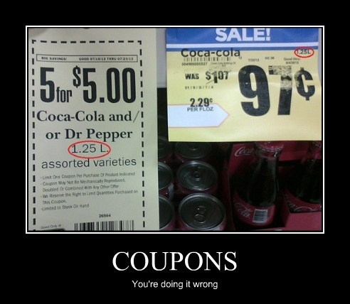 coupons,doing it wrong,funny