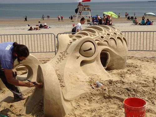art design beach octopus funny - 7686825728