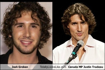 Canada josh groban justin trudeau totally looks like funny - 7687037440