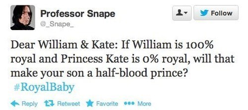 Harry Potter,royal baby,half-blood prince,professor snape