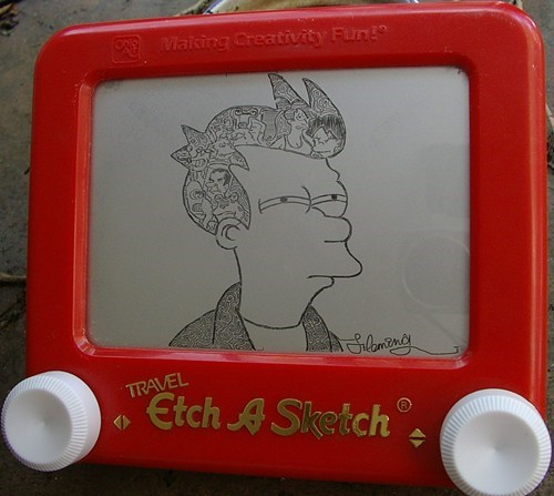 not sure if Etch A Sketch Memes cartoons Futurama Fry - 7687923200