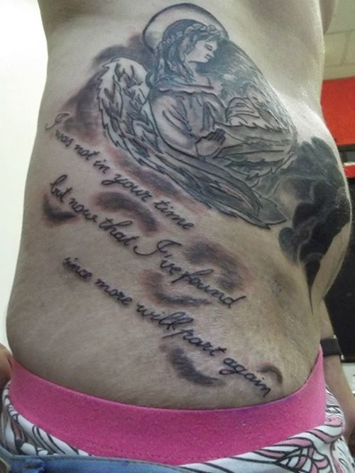 text angels tattoos funny