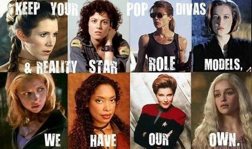 Aliens,star wars,Buffy,Game of Thrones,terminator 2,Firefly,Star Trek,women