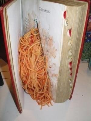 wtf spaghetti books funny - 7688374784