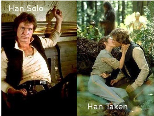star wars relationship status puns Han Solo funny - 7688525568
