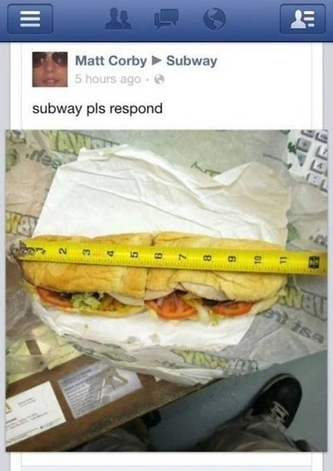 footlong sandwiches,footlong,Subway
