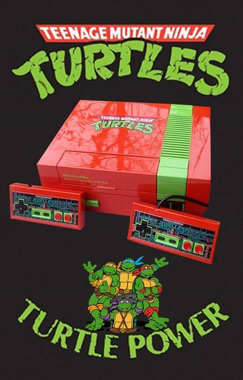 teenage mutant ninja turtles custom NES nintendo - 7688575488