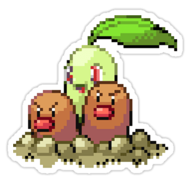 Chikorita,diglett wednesday,diglett