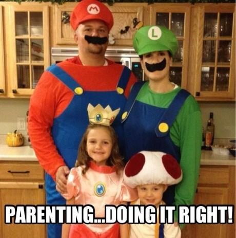 cosplay,families,IRL,mario,nintendo