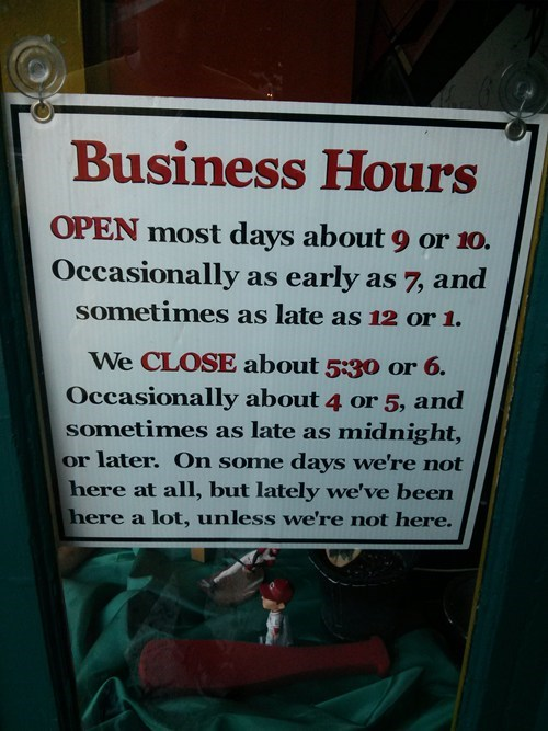 business hours hours