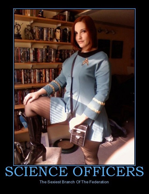 Sexy Ladies,science officer,Star Trek,funny