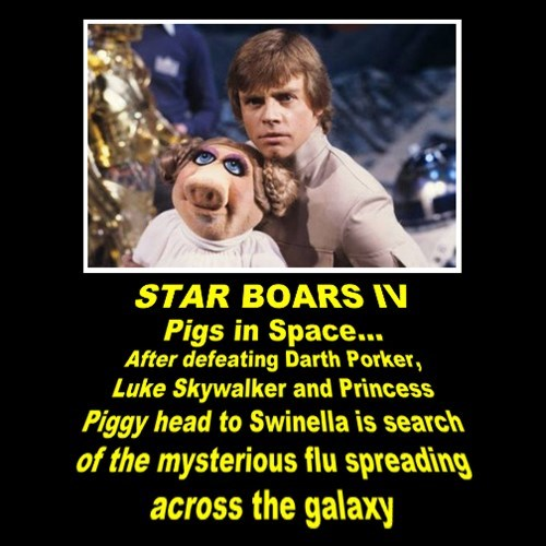 muppets,pigs in space,star wars,funny
